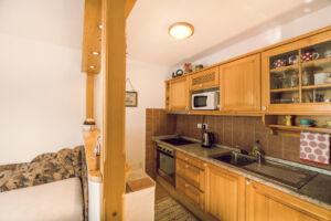 Detail kuchyně v domku, A-pension